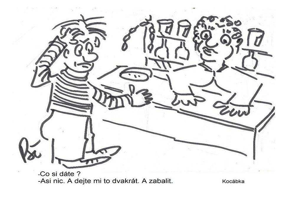 Kreslený humor Jiřího Cinkeise a Josefa Pšeničky.