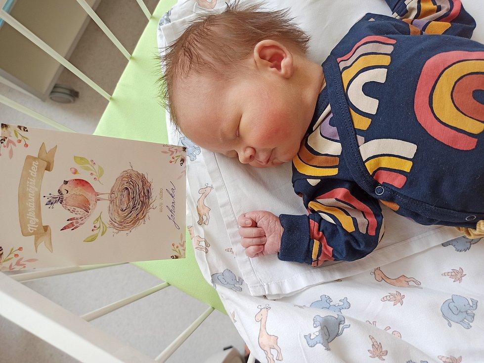 Johanka Solovov se narodila 17. března 2021 v kolínské porodnici, vážila 3460 g a měřila 52 cm. Do Církvice si ji odvezl bráška Jáchym (4) a rodiče Karolína a Jaroslav.