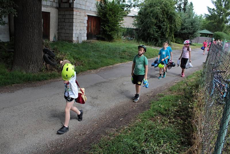 Na dětském dopravním hřišti v Benešově.