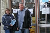 První minuty voleb na Benešovsku.