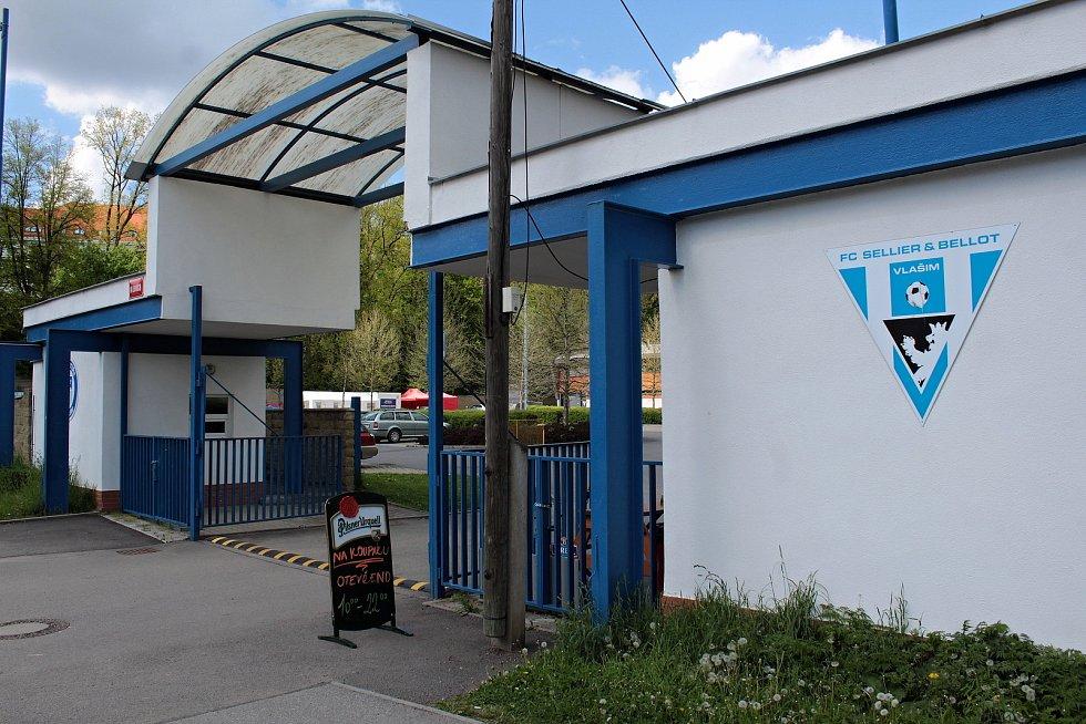 Vstup do areálu FC Sellier & Bellot Vlašim.
