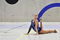 Viktorie Šitlerová na Mistrovství České republiky v twirlingu v Prostějově.