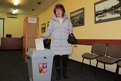 Druhý den prezidentských voleb v Týnci.