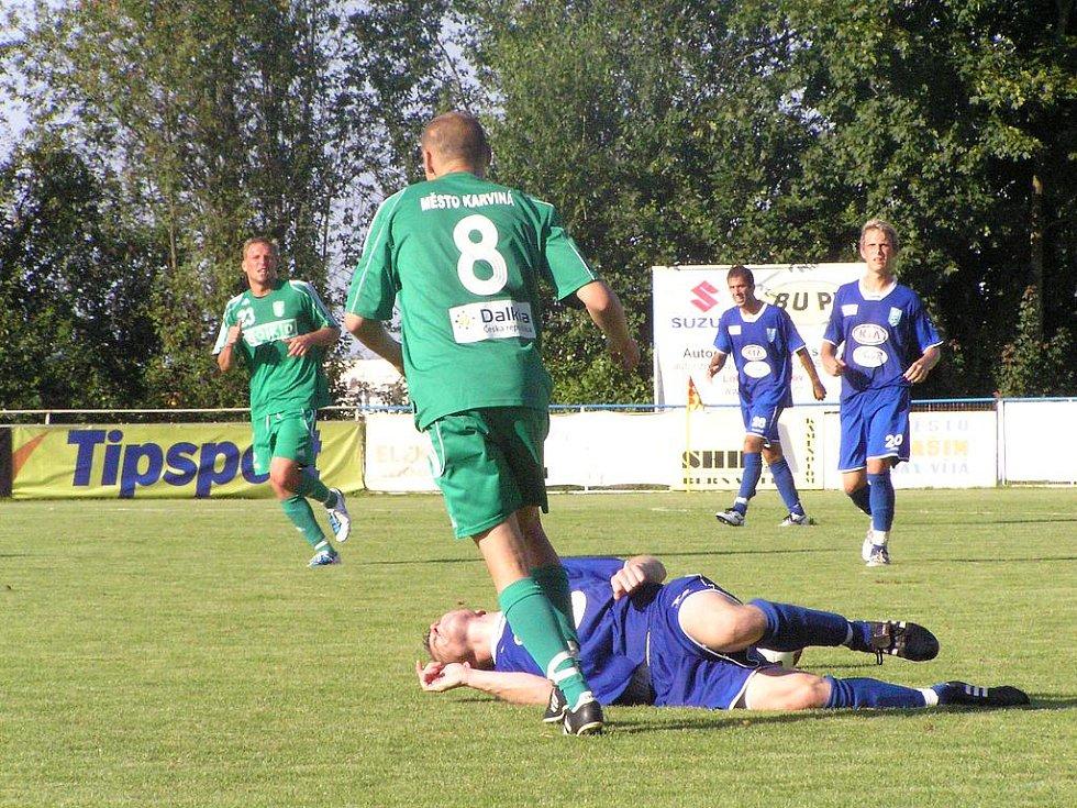 Fotbalový zápas II. ligy Vlašim - Karviná