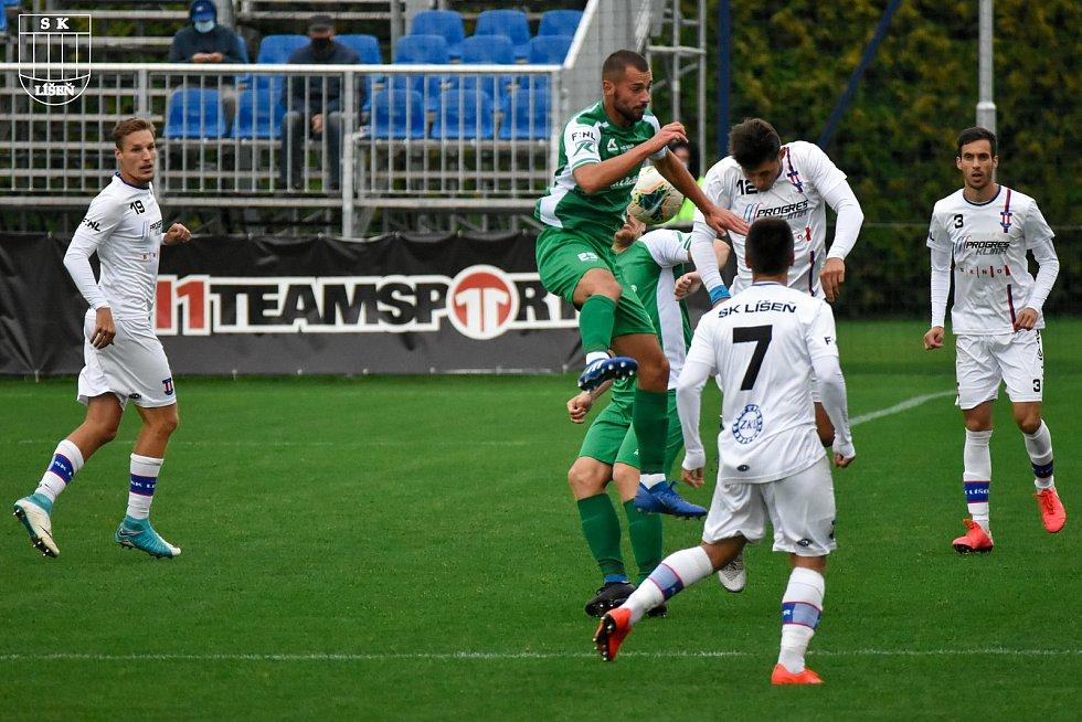 Z podzimního utkání FORTUNA:NÁRODNÍ LIGA 2020/2021 mezi Líšní  a Vlašimí, které skončilo výhrou domácích 1:0.