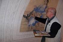 Oprava fresek v kapli vlašimského zámku