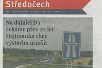 Scan titulní strany krajského zpravodaje Středočech.