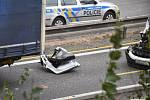 Dopravní nehoda na 61. kilometru dálnice D1, ve směru na Brno.