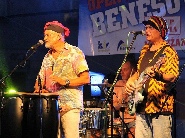 Yo Yo Band vystoupil na festivalu Benešov City Live.