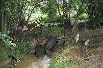 Škody v desítkách tisíc korunu způsobil v Přestavlkách intenzivní déšť a s ním související lokální záplavy