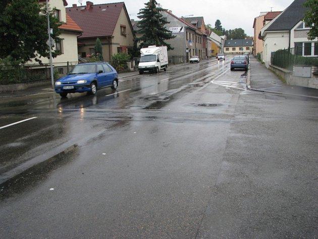 Benešov, ulice Na Chmelnici