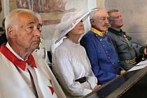 Vzpomínání na Františka Ferdinanda v kostele sv. Filipa a Jakuba na Chvojně.