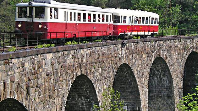 Viadukt Žampach u Jílového. Ilustrační foto.