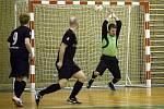 Zápas II. futsalové ligy Arsenal Benešov - Teplice B 6:5.