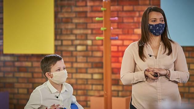Dominika Chalušová v pořadu UčíTelka.