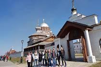 Studenti Gymnázia Benešov na návštěvě Ruska.
