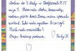 Vzkazy dětí ze Základní školy v Chotýšanech nemocným seniorům.