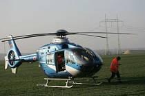 Helikoptéra záchranné služby.