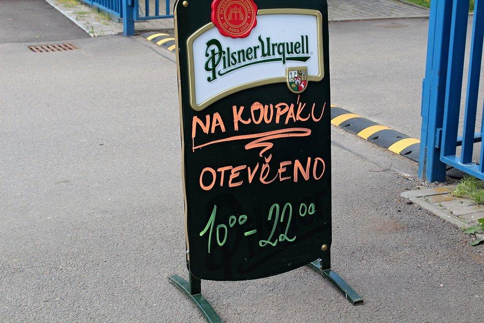 Zahrádka občerstvení Na Koupáku ve Vlašimi.