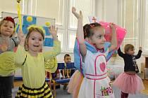 Dětský karneval v Mateřské škole ve Voticích.