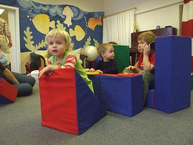 V herně si děti mohou po cvičení či hraní také odpočinout.
