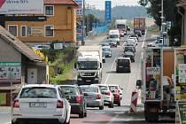 Dopravní situace v Olbramovicích.