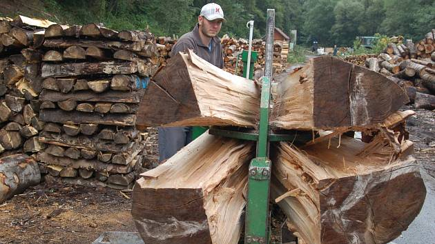 Příprava palivového dřeva. Ilustrační foto.