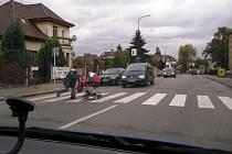 Ulice Červené Vršky.