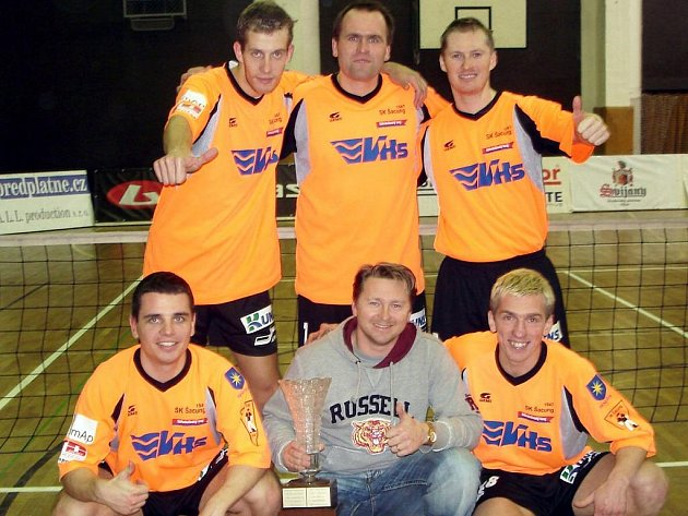 Vítězná sestava Šacungu v turnaji Poslední smeč.