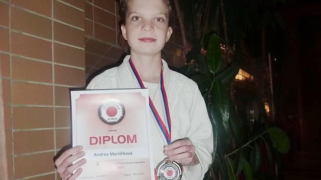 Stříbrná medailistka Andrea Maršíčková.