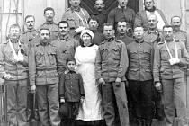 Vojenský válečný lazaret na Konopišti v roce 1914.