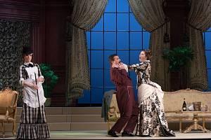 Vtipný příběh online projekce divadelní hry Netopýr z měšťáckého prostředí je o Gabrielu Eisensteinovi, který musí na několik dní do vězení, jeho ženě Rosalindě, za kterou přichází její dávná láska tenorista Alfred, a pomstě dr. Falkeho.