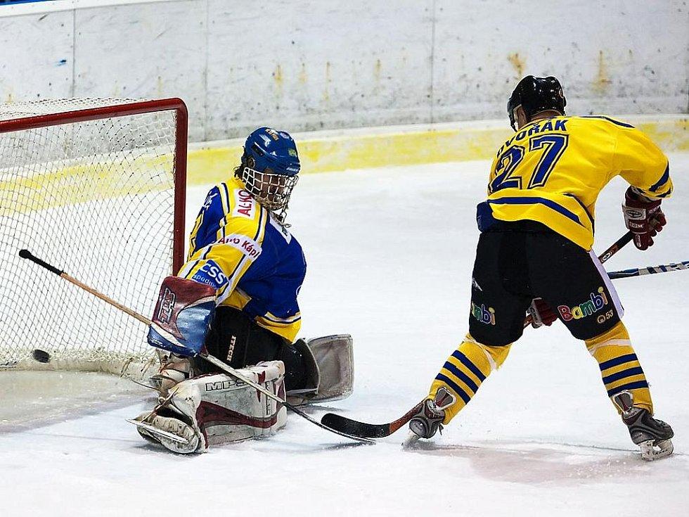 Zápas II. hokejové ligy Benešov - Písek 2:7.
