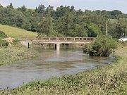Řeka Blanice vytopila i bývalý mlýn v Libži.
