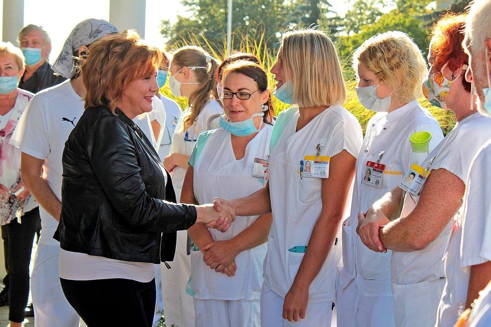 Ze slavnostního otevření Komplexního rehabilitačního centra v Nemocnici Rudolfa a Stefanie v Benešově.