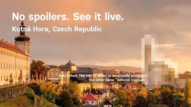 Reklamní kampaň, jejímž cílem je zlákat obyvatele USA k návštěvě České republiky.