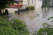 Splavský rybník v Bystřici.