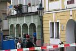 Evakuace votické radnice a náměstí kvůli nahlášené výbušnině.