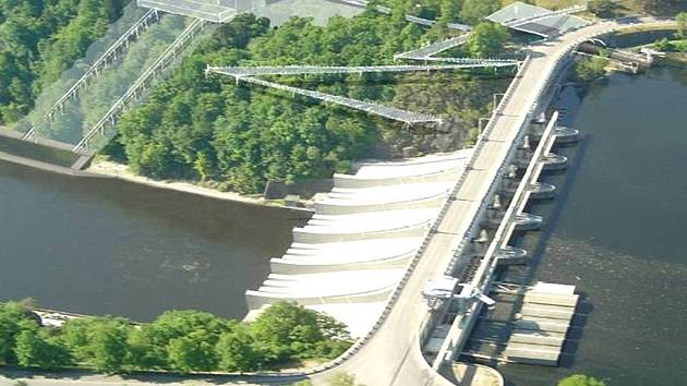 Plánovaný projekt by měl zjednodušit přepravu plavidel určitých parametrů na přehradách Slapy (nahoře) a Orlík (dole). Dosud byly lodě přepravovány pomocí lodních zdvihadel