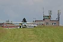 Letiště Benešov u Nesvačil nedaleko Bystřice.