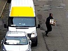 Podobu zloděje, který ukradl balík s knihami, zachytily městské kamery.