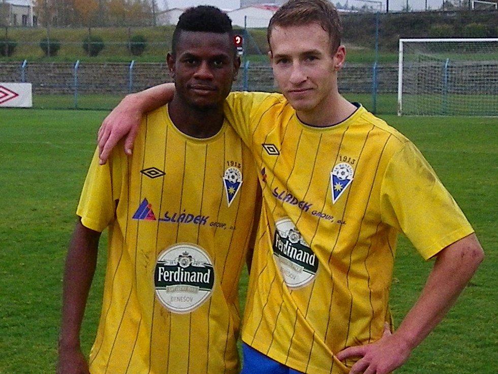 Bidje Manzia a Pavel Čapek, střelci benešovských gólů.