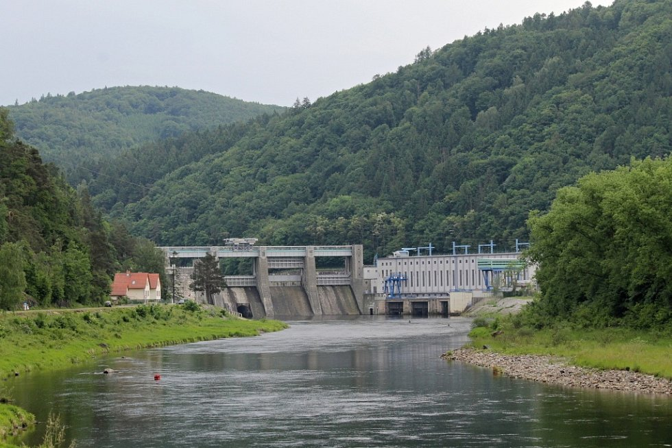 Štěchovická přehrada.
