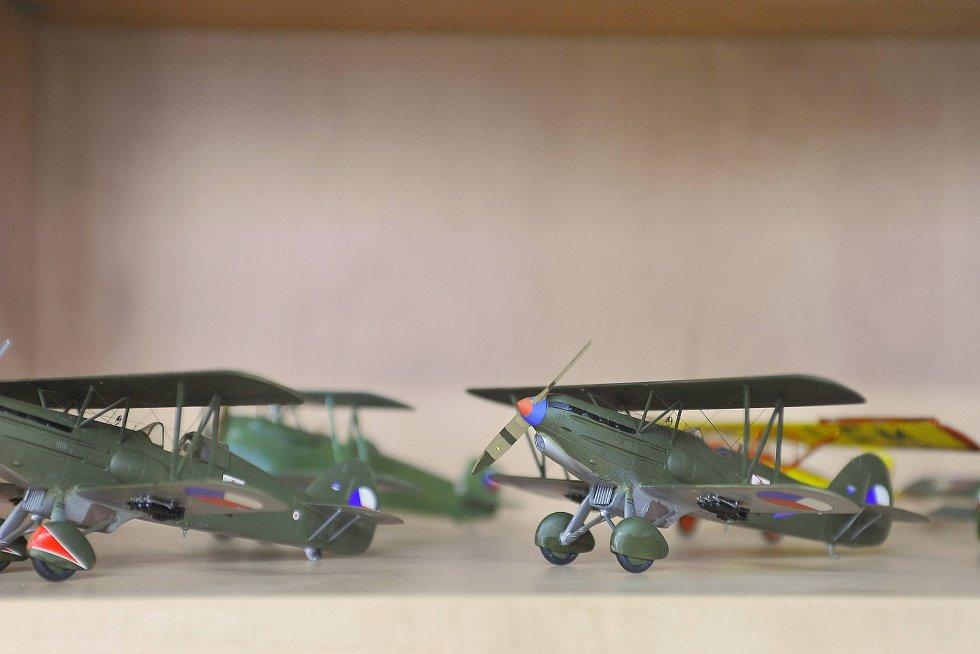 Výstava leteckých modelů v Sázavě.