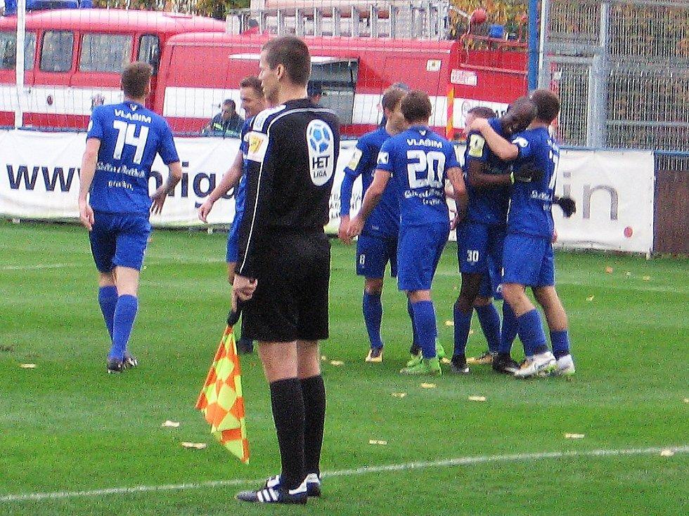 Osmifinále Mol cupu Vlašim - Zlín 1:1 PK 3:5.