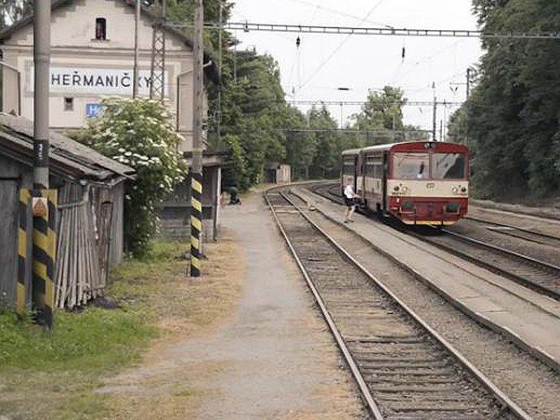 Vizualizace budoucího koridoru mezi Heřmaničkami a Meznem - nádraží Heřmaničky.