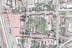 Dopravně-inženýrské opatření kvůli stavbě v Nádražní ulici v Benešově. Ta by v rámci II. etapy měla být od začátku srpna průjezdná.