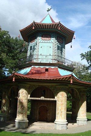 Čínský pavilon ve Vlašimi.