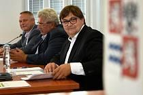 Gabriel Kovács (vpředu) se vzdal mandátu v krajském zastupitelstvu ve středu 13. října 2021.