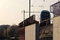 Přestavba nádraží v Praze - Hostivaři na trati z Benešova do Prahy hl.n.